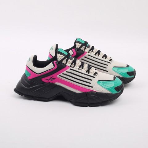 бежевые, чёрные, розовые  кроссовки reebok dmx series 3000 FV8652 - цена, описание, фото 2