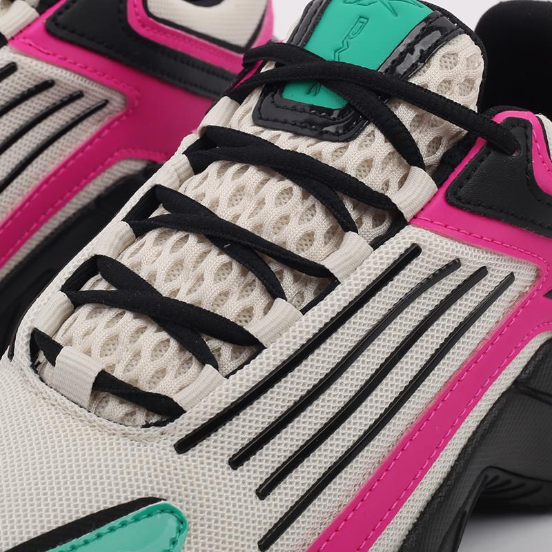 бежевые, чёрные, розовые  кроссовки reebok dmx series 3000 FV8652 - цена, описание, фото 7
