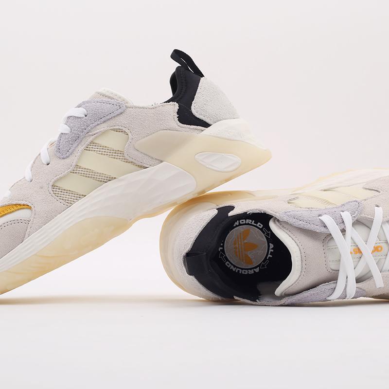 мужские бежевые  кроссовки adidas streetball low FW1215 - цена, описание, фото 8