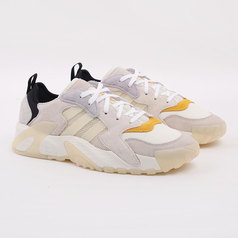 мужские бежевые  кроссовки adidas streetball low FW1215 - цена, описание, фото 2