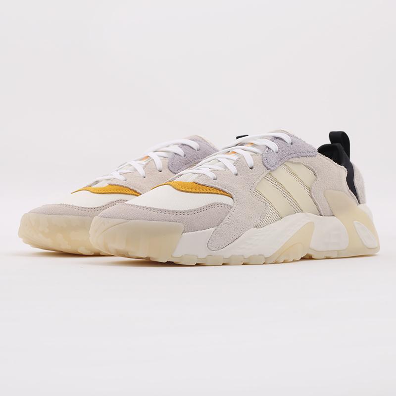 мужские бежевые  кроссовки adidas streetball low FW1215 - цена, описание, фото 5