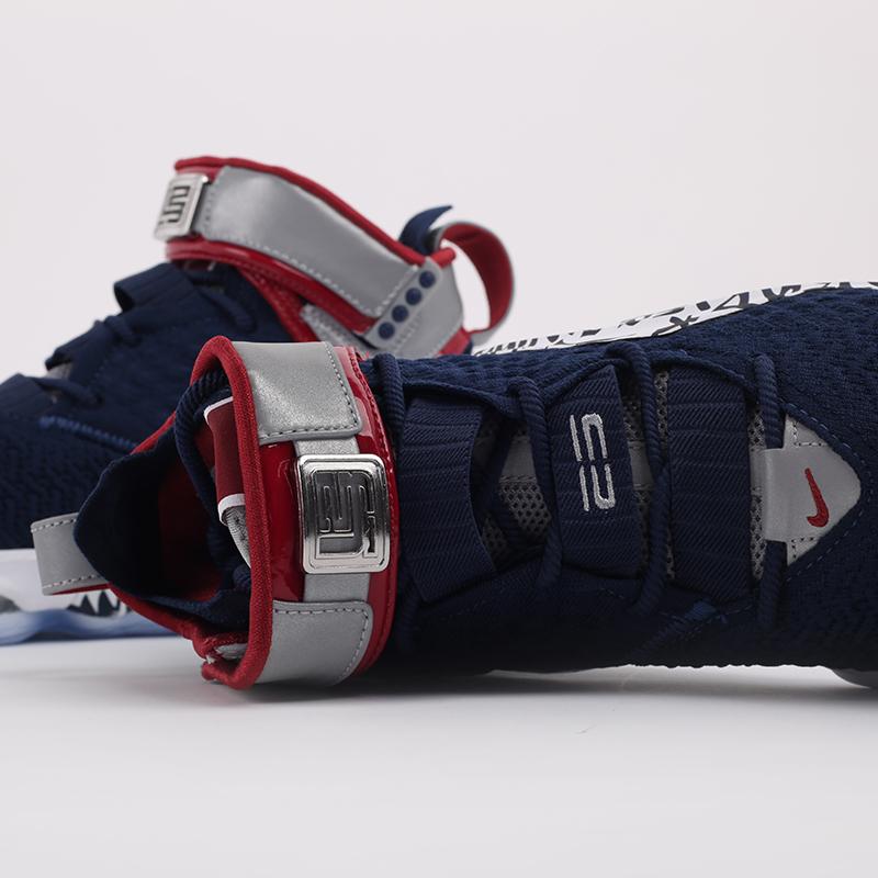 мужские синие  кроссовки nike lebron xvii fp CT6047-400 - цена, описание, фото 4