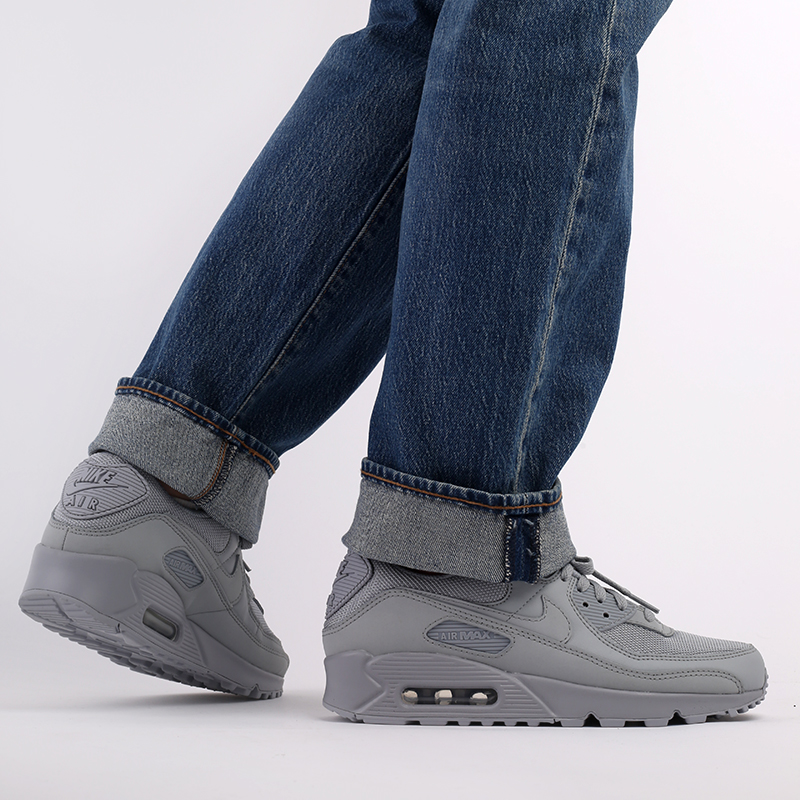 мужские серые  кроссовки nike air max 90 CN8490-001 - цена, описание, фото 9