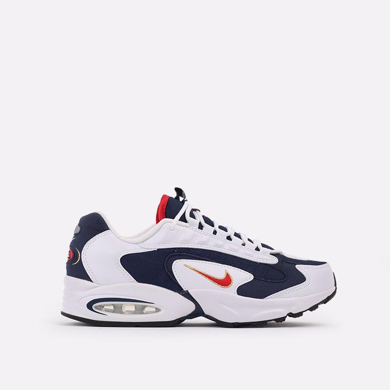 мужские белые, синие  кроссовки nike air max triax usa CT1763-400 - цена, описание, фото 1