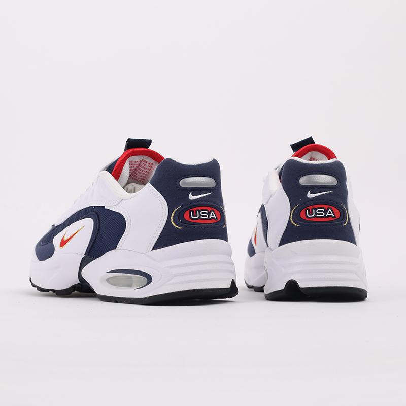 мужские белые, синие  кроссовки nike air max triax usa CT1763-400 - цена, описание, фото 3
