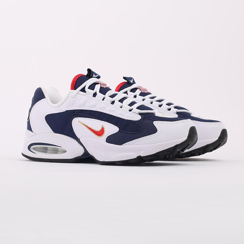 мужские белые, синие  кроссовки nike air max triax usa CT1763-400 - цена, описание, фото 2