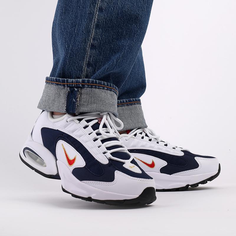 мужские белые, синие  кроссовки nike air max triax usa CT1763-400 - цена, описание, фото 10