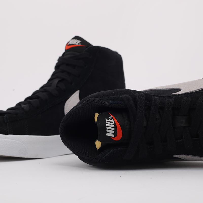 мужские чёрные  кроссовки nike blazer mid '77 suede CI1172-002 - цена, описание, фото 4
