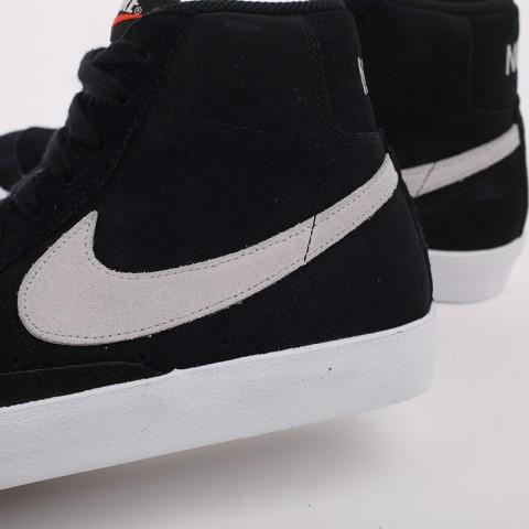 мужские чёрные  кроссовки nike blazer mid '77 suede CI1172-002 - цена, описание, фото 5