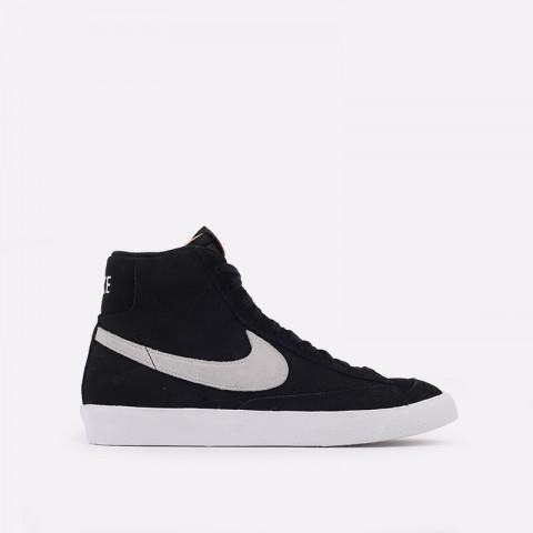мужские чёрные  кроссовки nike blazer mid '77 suede CI1172-002 - цена, описание, фото 1