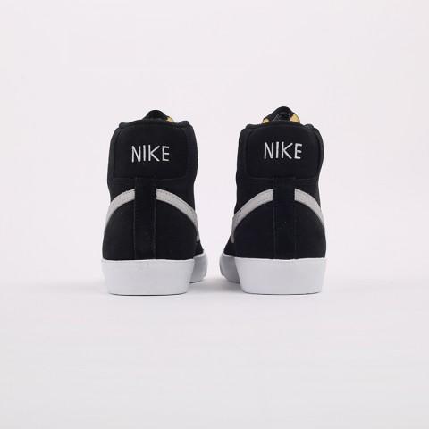 мужские чёрные  кроссовки nike blazer mid '77 suede CI1172-002 - цена, описание, фото 3