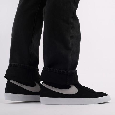 мужские чёрные  кроссовки nike blazer mid '77 suede CI1172-002 - цена, описание, фото 8