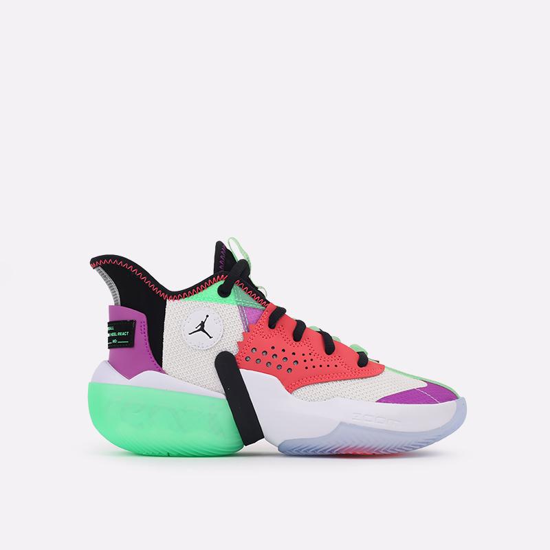 разноцветные  кроссовки jordan react elevation CK6618-101 - цена, описание, фото 1