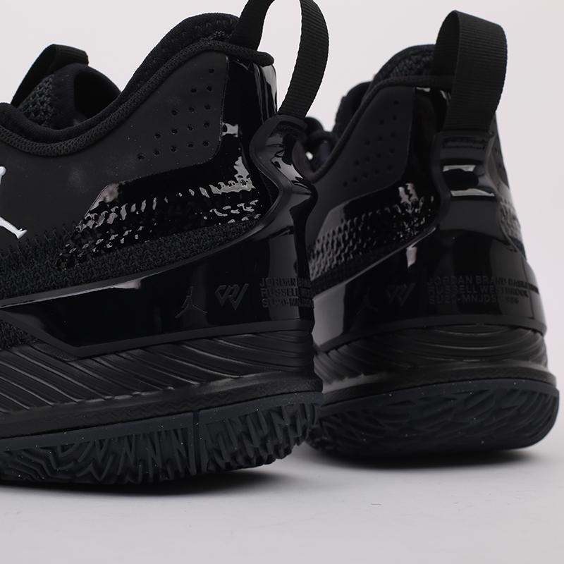 мужские чёрные  кроссовки jordan westbrook one take CJ0780-002 - цена, описание, фото 5