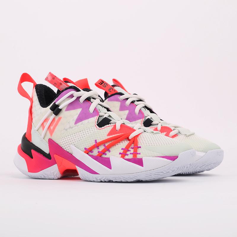 женские бежевые  кроссовки jordan why not zero.3 se (gs) CN8107-101 - цена, описание, фото 2