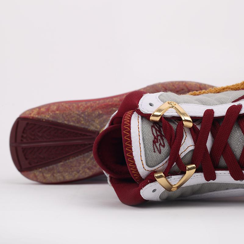 белые, бордовые  кроссовки nike lebron vii qs CZ8915-100 - цена, описание, фото 5