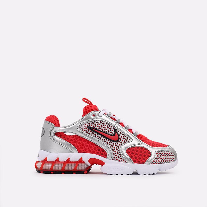 серые, красные  кроссовки nike air zoom spiridon cage 2 CJ1288-600 - цена, описание, фото 1