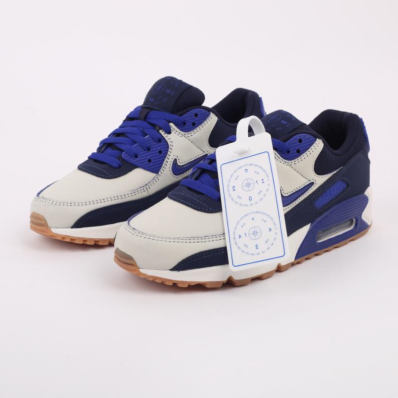 мужские синие  кроссовки nike air max 90 prm CJ0611-102 - цена, описание, фото 4