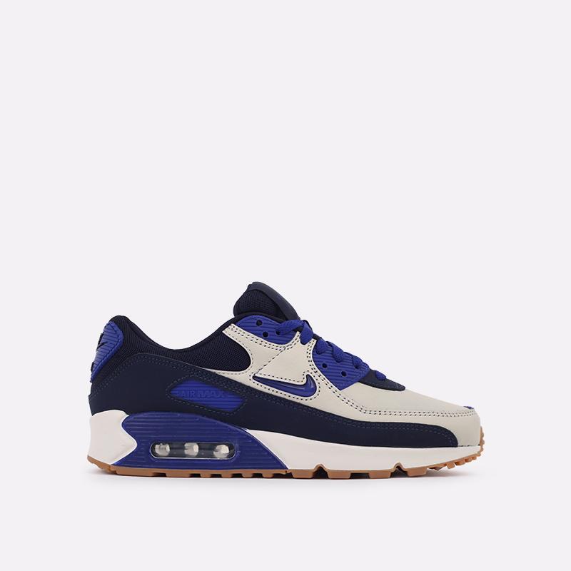 мужские синие  кроссовки nike air max 90 prm CJ0611-102 - цена, описание, фото 1
