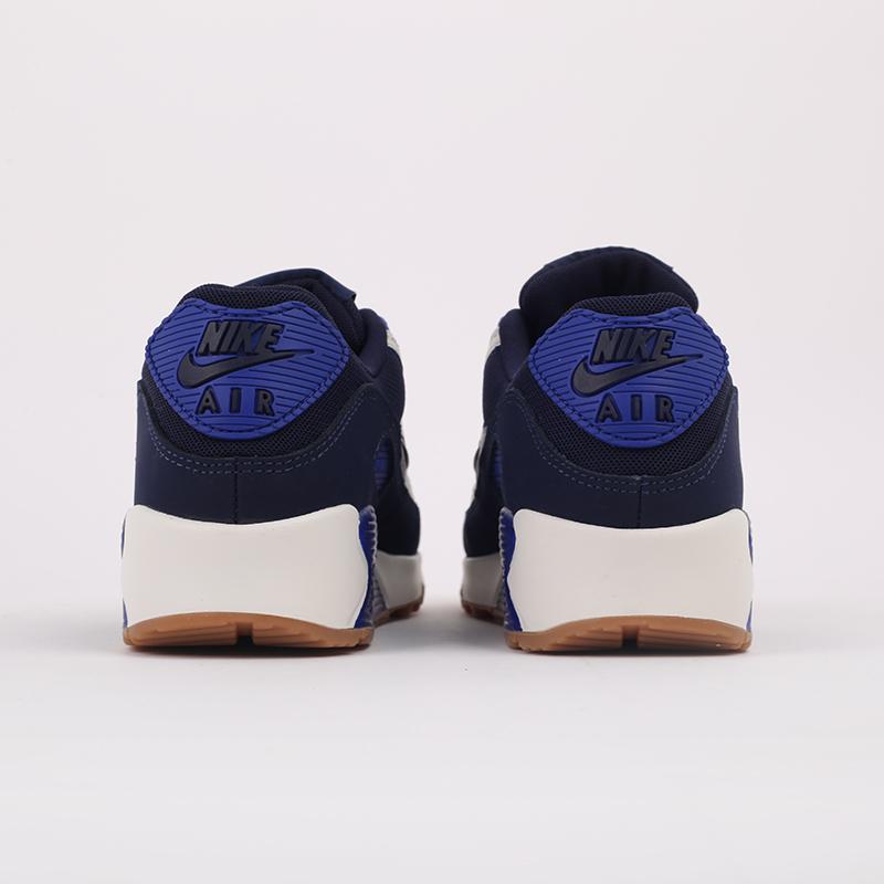 мужские синие  кроссовки nike air max 90 prm CJ0611-102 - цена, описание, фото 3