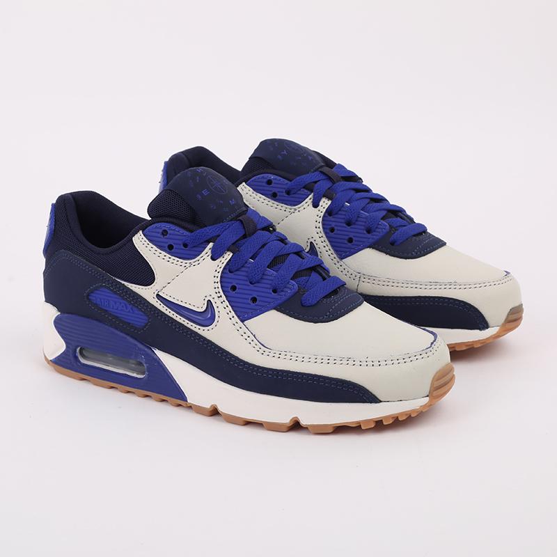 мужские синие  кроссовки nike air max 90 prm CJ0611-102 - цена, описание, фото 2