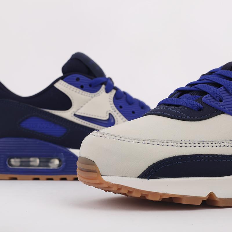 мужские синие  кроссовки nike air max 90 prm CJ0611-102 - цена, описание, фото 6