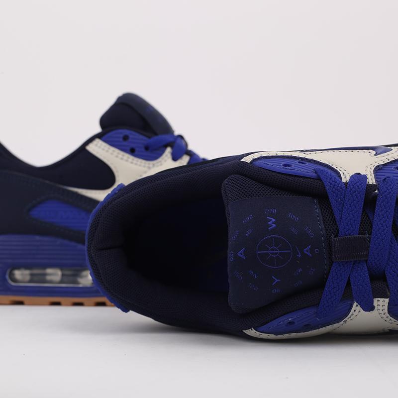 мужские синие  кроссовки nike air max 90 prm CJ0611-102 - цена, описание, фото 7