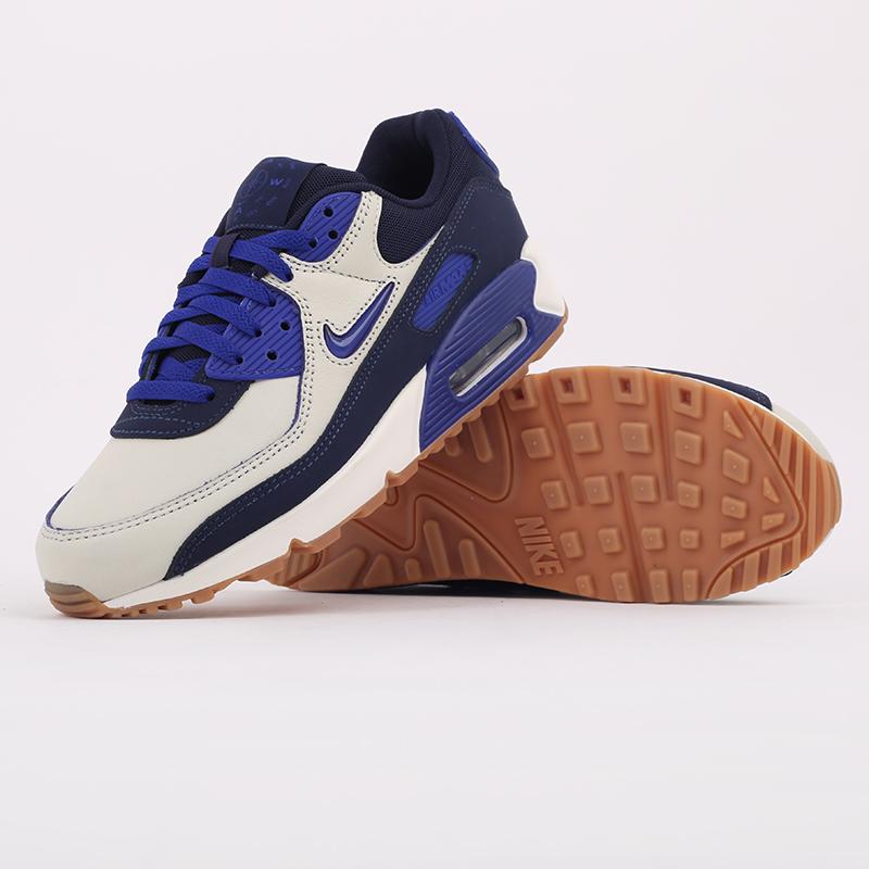 мужские синие  кроссовки nike air max 90 prm CJ0611-102 - цена, описание, фото 5
