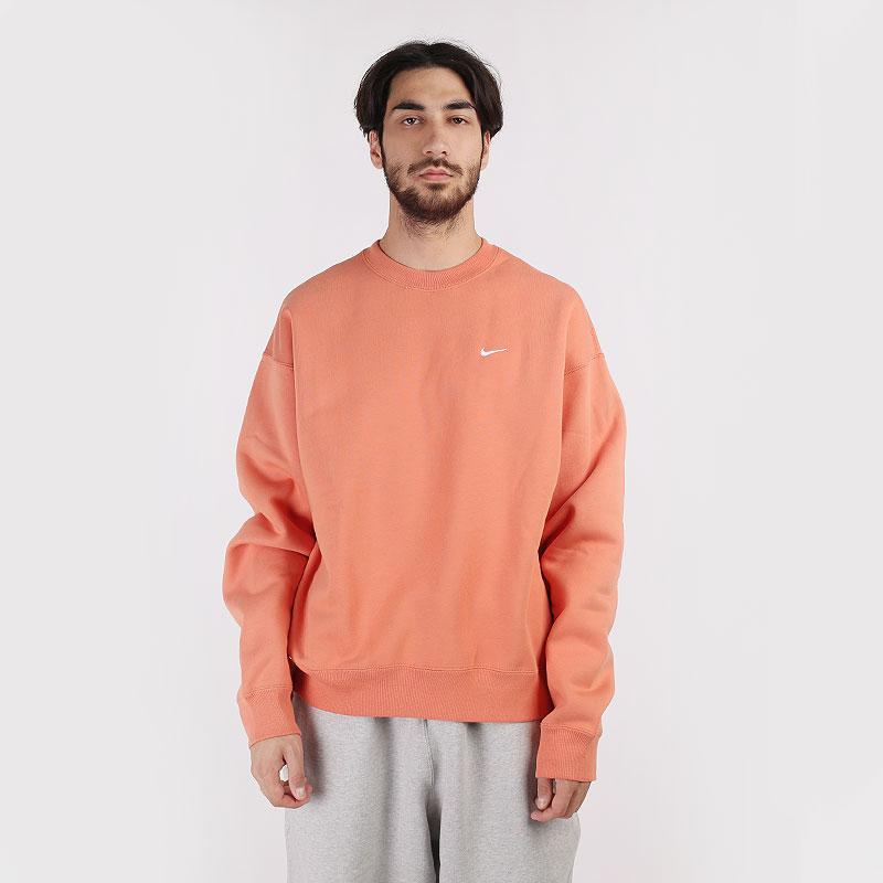 мужскую оранжевую  толстовка nike nikelab fleece crew CV0554-863 - цена, описание, фото 1