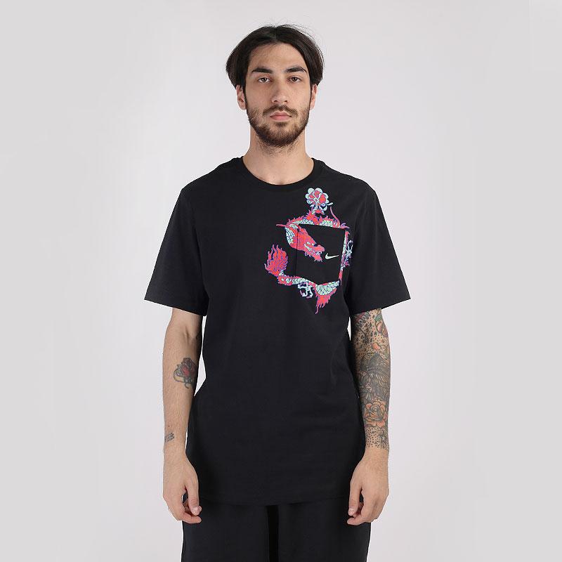 мужскую черную  футболка nike global tee CV1046-010 - цена, описание, фото 1