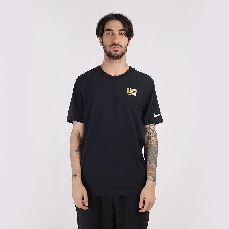 мужскую черную  футболка nike dri-fit lebron  CV1057-010 - цена, описание, фото 1