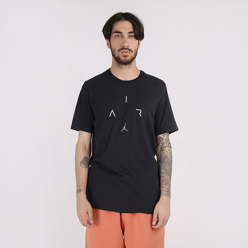 мужскую черную  футболка jordan air short-sleeve crew CN3575-010 - цена, описание, фото 1