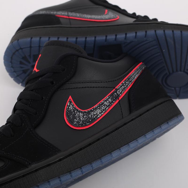 мужские черные  кроссовки jordan 1 low se CK3022-006 - цена, описание, фото 7