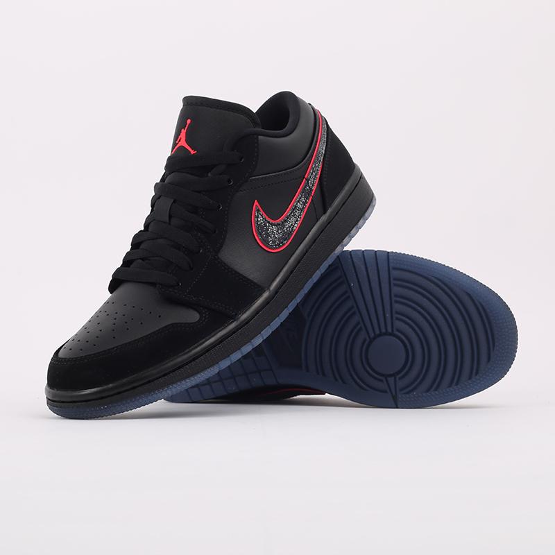 мужские черные  кроссовки jordan 1 low se CK3022-006 - цена, описание, фото 6