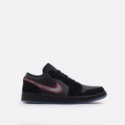 мужские черные  кроссовки jordan 1 low se CK3022-006 - цена, описание, фото 1