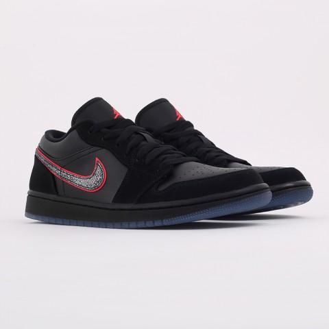 мужские черные  кроссовки jordan 1 low se CK3022-006 - цена, описание, фото 2
