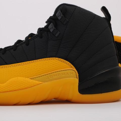 мужские черные, жёлтые  кроссовки jordan 12 retro 130690-070 - цена, описание, фото 6