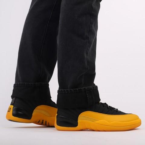 мужские черные, жёлтые  кроссовки jordan 12 retro 130690-070 - цена, описание, фото 9