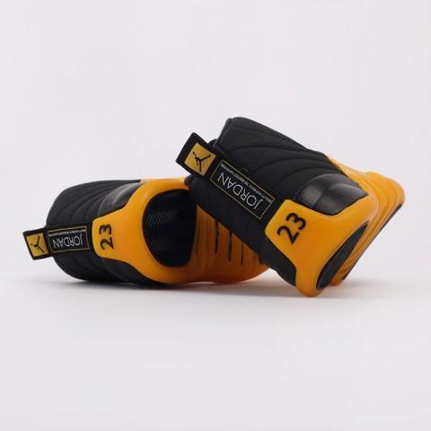мужские черные, жёлтые  кроссовки jordan 12 retro 130690-070 - цена, описание, фото 4