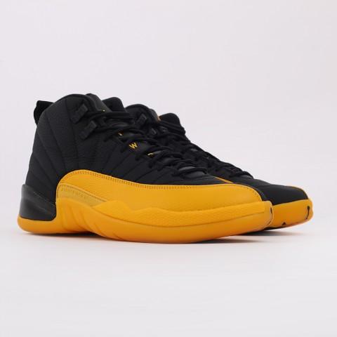 мужские черные, жёлтые  кроссовки jordan 12 retro 130690-070 - цена, описание, фото 2