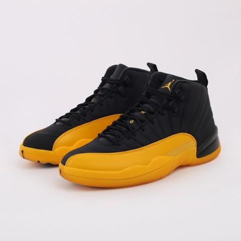 мужские черные, жёлтые  кроссовки jordan 12 retro 130690-070 - цена, описание, фото 8