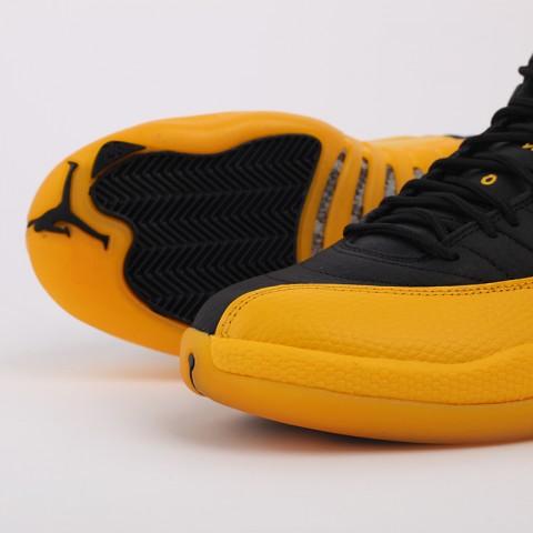 мужские черные, жёлтые  кроссовки jordan 12 retro 130690-070 - цена, описание, фото 5