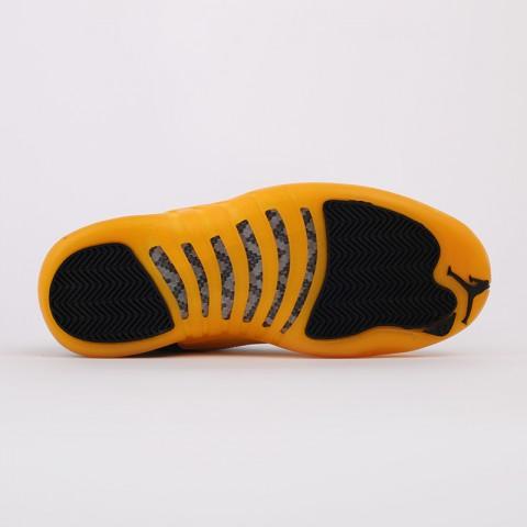 мужские черные, жёлтые  кроссовки jordan 12 retro 130690-070 - цена, описание, фото 3