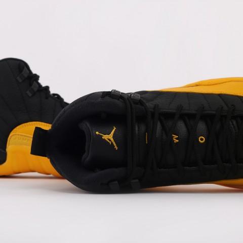 мужские черные, жёлтые  кроссовки jordan 12 retro 130690-070 - цена, описание, фото 7