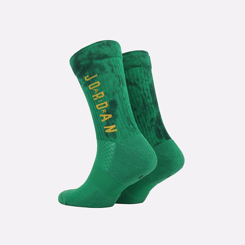 мужские зелёные  носки jordan legacy crew sport dna SK0028-310 - цена, описание, фото 2