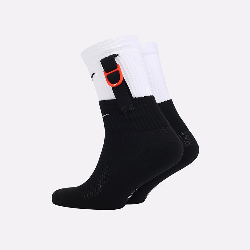 мужские черные, белые  носки nike snkr sox SK0099-100 - цена, описание, фото 2