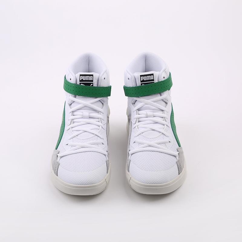 мужские белые, зелёные  кроссовки puma sky modern 19404202 - цена, описание, фото 4