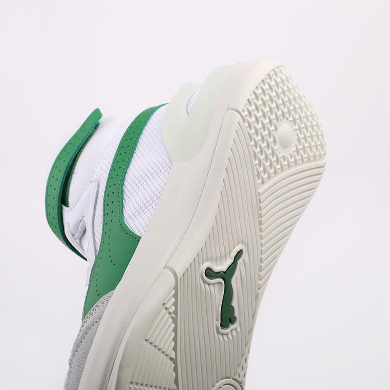 мужские белые, зелёные  кроссовки puma sky modern 19404202 - цена, описание, фото 6