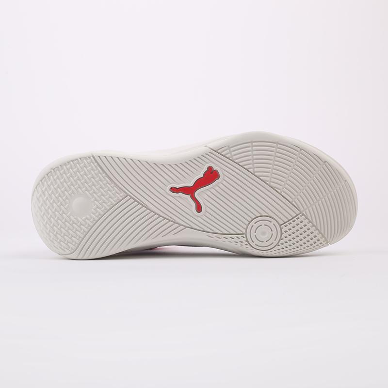 мужские белые, красные  кроссовки puma sky modern 19404203 - цена, описание, фото 5