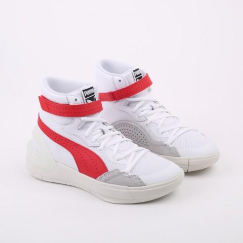 мужские белые, красные  кроссовки puma sky modern 19404203 - цена, описание, фото 2